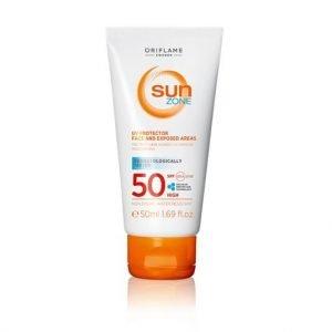 Oriflame 50 ml-es Sun Zone napozó arcra és a napnak kitett bőrre SPF 50