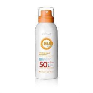 Oriflame Sun Zone homok- és vízálló napozó spray SPF 50 magas fényvédelemmel