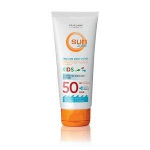 Oriflame Sun Zone napozó lotion arcra és testre gyerekeknek SPF 50 - magas fényvédelem
