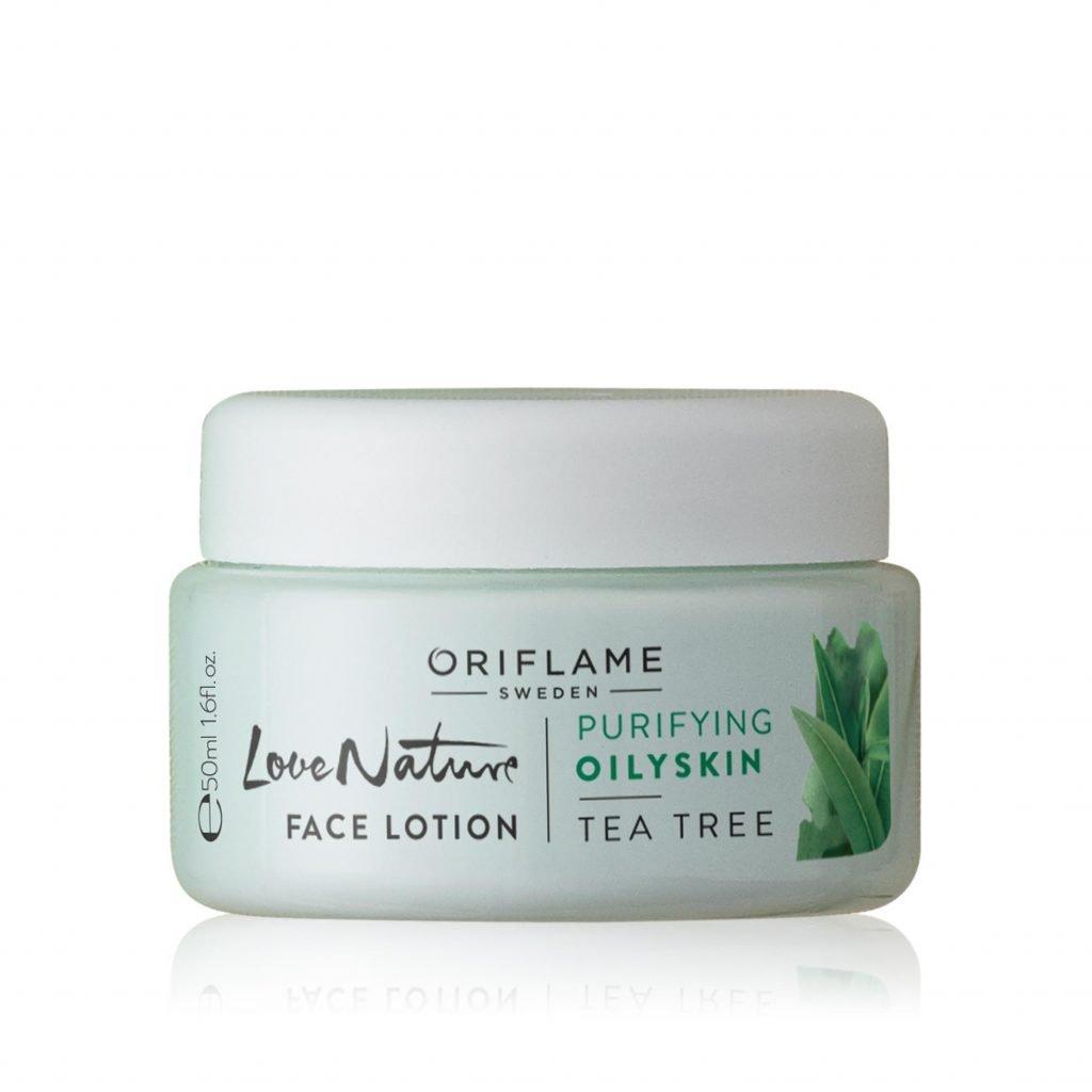 Love Nature arcápoló lotion teafával
