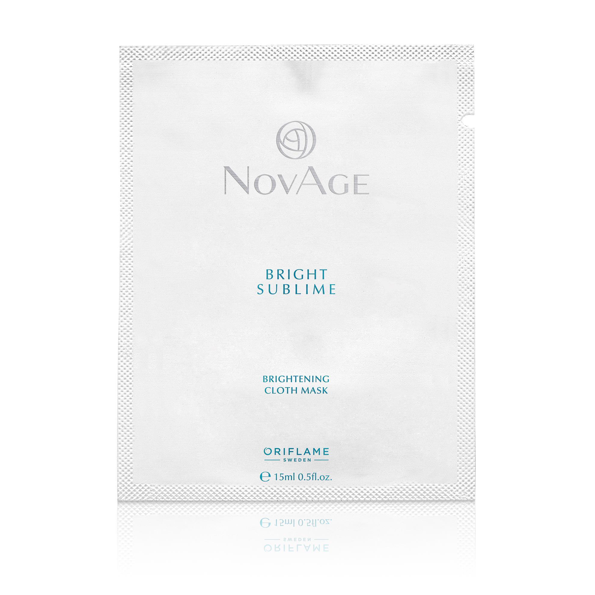 NovAge Bright Sublime bőrhalványító textil arcmaszk